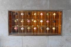 Gelateria Venchi im Bahnhof Ausstellungsstücke Florenz