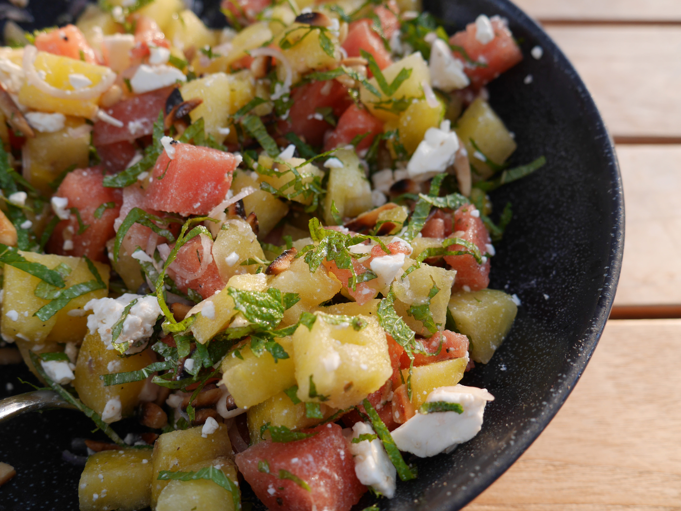 Bunter Melonensalat