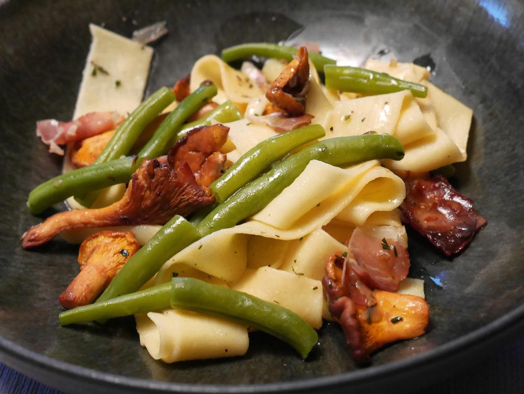 Pappardelle mit Pfifferlingen und grünen Bohnen