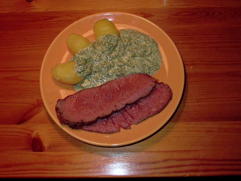 Grüne Soße mit Roastbeef