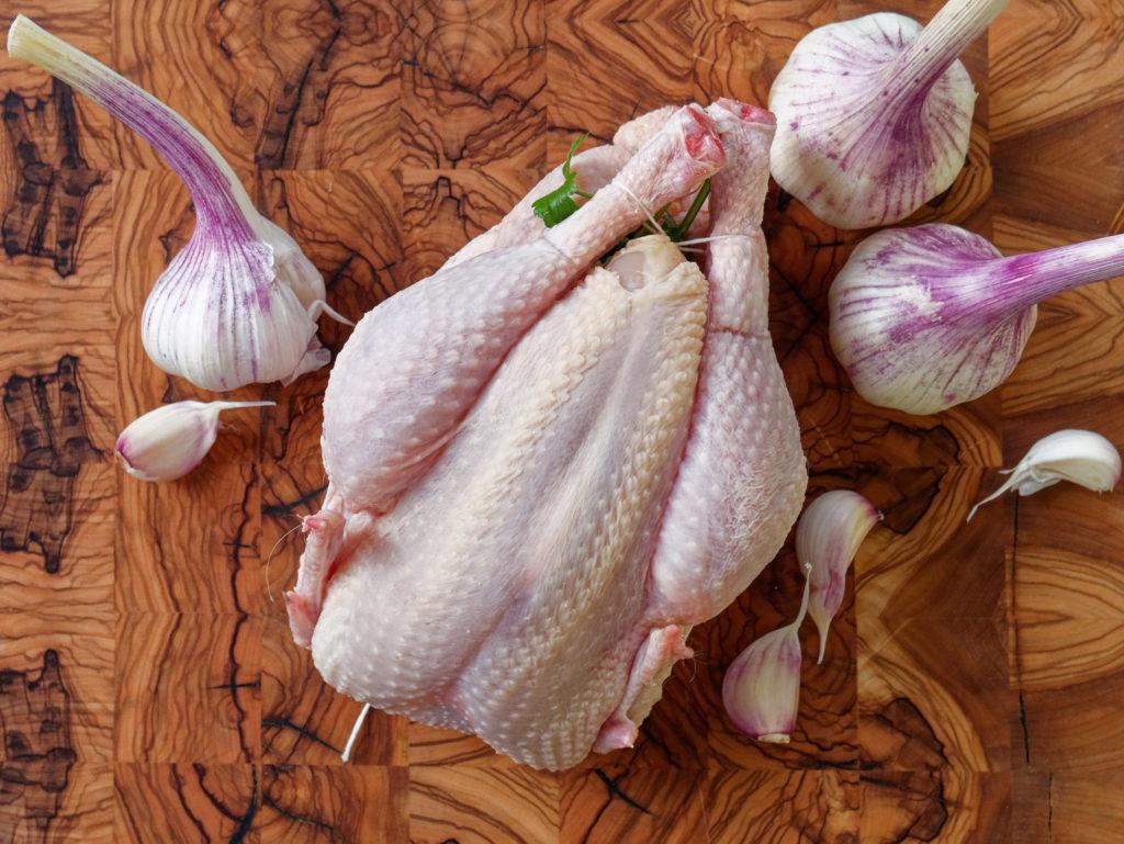 Huhn mit 40 Knoblauchzehen