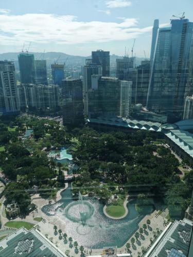 Blick von der Skybridge Petronas